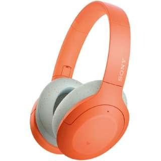 ブルートゥースヘッドホン オレンジ WH-H910N DM [リモコン・マイク対応 /Bluetooth /ハイレゾ対応 /ノイズキャンセリング対応]