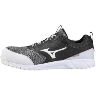 27.0cm 靴幅:3E メンズ 安全靴 オールマイティES31L(ブラック×ホワイト) F1GA1903【JSAA・普通作業用(A種)認定品 耐滑 プロテクティブスニーカー】