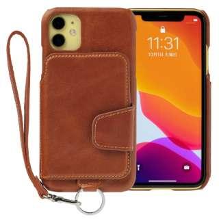 RAKUNI Leather Case for iPhone 11 rak-19ipm-car キャラメルブラウン