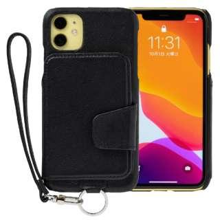 RAKUNI Leather Case for iPhone 11 rak-19ipm-blk ピュアブラック