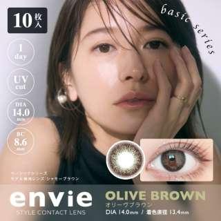 アンヴィ UV オリーブブラウン(10枚入)[envie/カラコン/1日使い捨てコンタクトレンズ]