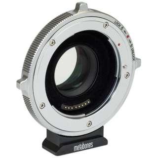 METABONES MB_SPEF-m43-BTA マウント(ボディ側:BMPCC4K/レンズ側:Canon EF)・Speed Booster ULTRA 0.71x・APS-C専用・電子接点付き・CINEシリーズ・T(フロック加工)