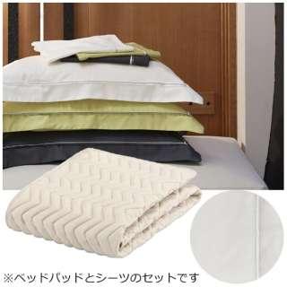 【ベッドパッド/ボックスシーツ】セレクト3点セット(バイオベッドパッド/プレミアムボックスシーツ2枚/ホワイト/シングルサイズ) フランスベッド