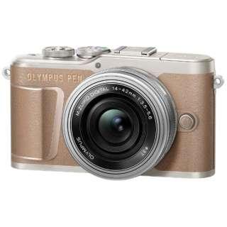 PEN E-PL10 ミラーレス一眼カメラ 14-42mm EZ レンズキット ブラウン [ズームレンズ]