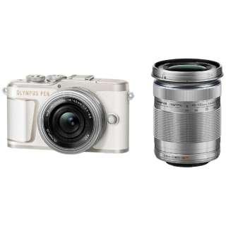 PEN E-PL10 ミラーレス一眼カメラ ダブルズームキット ホワイト [ズームレンズ+ズームレンズ]