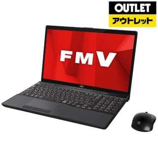 【アウトレット品】 15.6型ノートPC [Office付・Core i7・HDD 1TB・SSD 128GB・メモリ 8GB] LIFEBOOK AH77/D1  FMVA77D1B ブライトブラック 【外装不良品】