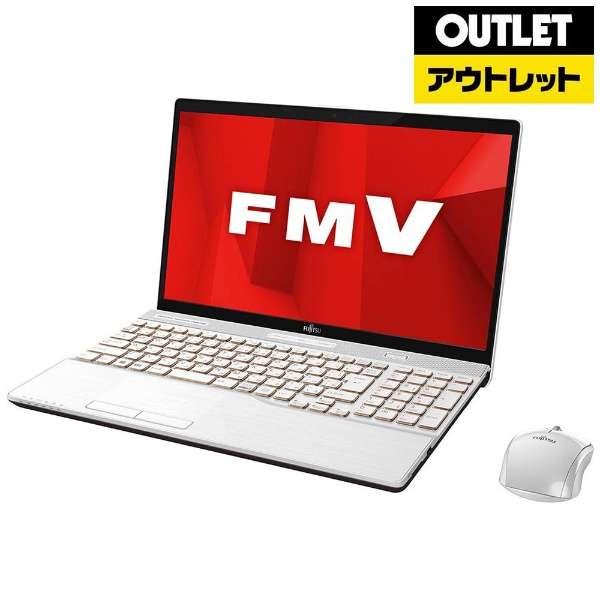 【アウトレット品】 15.6型ノートPC [Office付・Core i7・HDD 1TB・SSD 128GB・メモリ 8GB] LIFEBOOK AH77/D1  FMVA77D1W プレミアムホワイト 【外装不良品】
