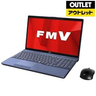 【アウトレット品】 15.6型ノートPC [Office付・Core i7・HDD 1TB・SSD 128GB・メモリ 8GB] LIFEBOOK AH77/D1  FMVA77D1L メタリックブルー 【外装不良品】