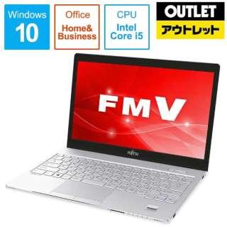 【アウトレット品】 13.3型ノートPC [Office付・Core i5・SSD 256GB・メモリ 4GB]LIFEBOOK SH75/C3  FMVS75C3W アーバンホワイト 【外装不良品】