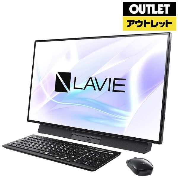 【アウトレット品】 27型モニター一体型デスクトップPC [Office付・Core i5・HDD 1TB・Optane 16GB・メモリ 4GB] LAVIE Desk All-in-one(DA500/MAB) PC-DA500MAB ファインブラック 【外装不良品】