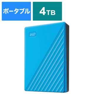 WDBPKJ0040BBL-JESN 外付けHDD ブルー [ポータブル型 /4TB]