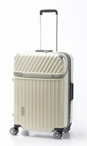 スーツケース 75L TRAVERIST(トラベリスト)Moment Flame(モーメントフレーム) hairline white 76-25009 [TSAロック搭載]