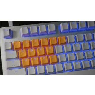 th-rubber-keycaps-neon-orange-18 ゲーミングキーキャップ Tai-Hao Rubber Gaming Backlit Keycaps keys Neon ネオンオレンジ