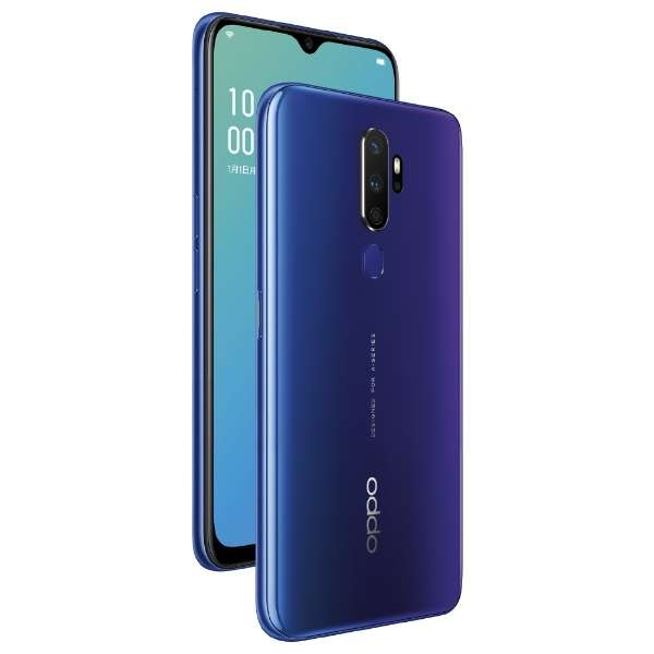 OPPO A5 2020 ブルー「CPH1943BL」Snapdragon 665 6.5型・メモリ/ストレージ:4GB/64GB nanoSIM x2 DSDV対応 docomo/au/Rakuten/YmobileSIM対応 SIMフリースマートフォン