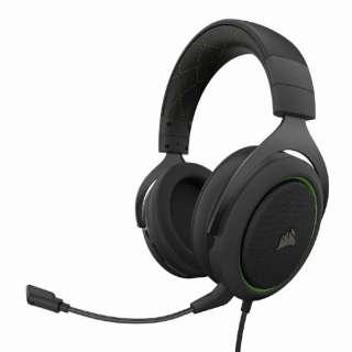 CA-9011216-AP ゲーミングヘッドセット HS50 PRO STEREO Green グリーン [φ3.5mmミニプラグ /両耳 /ヘッドバンドタイプ]