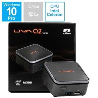 LIVAQ2-4/64-W10Pro(N4000) デスクトップパソコン [モニター無し /eMMC:64GB /メモリ:4GB /2019年10月モデル]