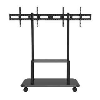 モニタースタンド [2画面 /28~55インチ] TV対応 壁寄せ キャスター付き移動式 JN-2X3255-JRC