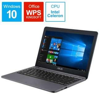 E203MA-4000G2 ノートパソコン ASUS E203MA スターグレー [11.6型 /intel Celeron /eMMC:64GB /メモリ:4GB /2019年10月モデル]
