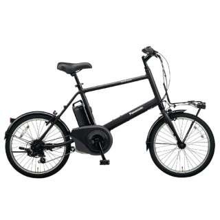 【eバイク】20型 電動アシスト自転車 ベロスター.ミニ(B.ミッドナイトブラック/外装7段変速) BE-ELVS072B【2020年モデル】 【組立商品につき返品不可】
