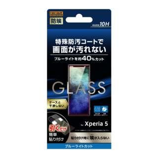 Xperia 5 ガラス 防埃 10H ブルーライトカット ソーダガラス