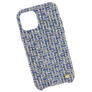 VELES elle iPhone11Pro対応シェルケース(ツイード) ブルー VLS-52BL