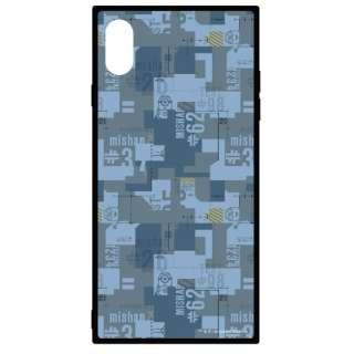 怪盗グルーシリーズ(ミニオン)iPhoneXs Max対応スクエアガラスケース 総柄 MINI-146A