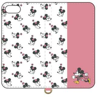 ディズニーキャラクター iPhone8/7/6s/6対応フリップカバー ミニーマウス DN-649B
