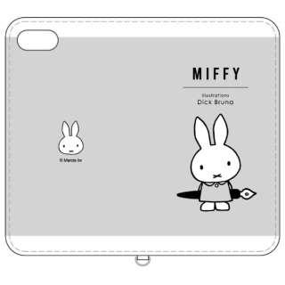 ミッフィー iPhone8/7/6s/6対応フリップカバー ペン MF-80GY