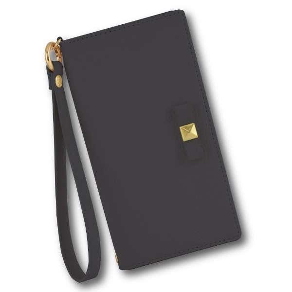 VELES elle iPhone11/XR対応フリップカバー(リボン) ネイビー VLS-44NV