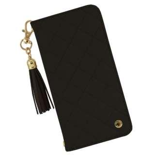 VELES elle iPhone11/XR対応フリップカバー(キルティング) ブラック VLS-50BK