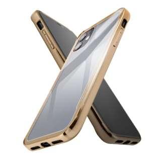 iPhone 11 ハイブリッドガラスケース メタリック/ゴールド IS-P21CC13/CG ゴールド