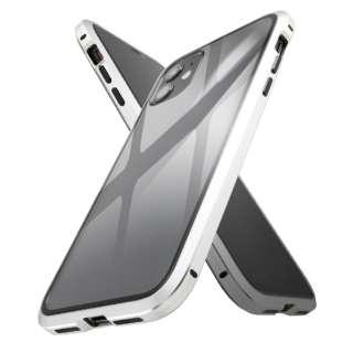 iPhone 11 アルミ×ガラス マグネットケース/シルバー IS-P21AG1/SV シルバー