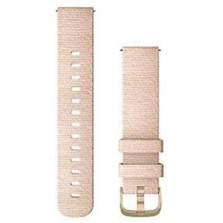 Quick Release バンド 20mm Blush Pink Woven Nylon / Light Gold 010-12924-52