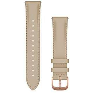 Quick Release バンド 20mm Light Sand Italian Leather / 18K Rose Gold PVD 010-12924-61