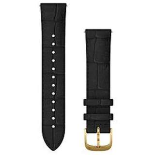 Quick Release バンド 20mm Black Embossed Italian Leather / 24K Gold PVD 010-12924-62