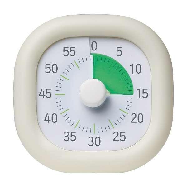トキサポ時っ感タイマー10cm色で時間の経過を実感アイボリー LV-3062-I