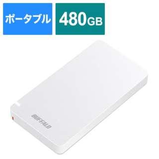 SSD-PGM480U3-W 外付けSSD ポータブル 480GB 超小型 PS4対応 Type-C ホワイト [ポータブル型 /480GB]