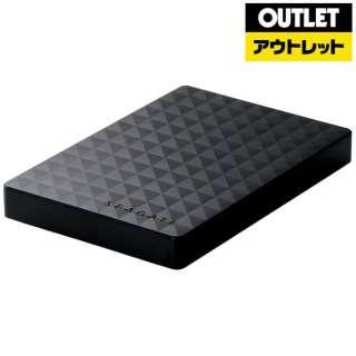 【アウトレット品】 外付けHDD [ポータブル型 /2TB] SGP-MX020UBK ブラック 【外装不良品】