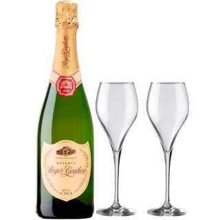 [ロジャーグラート特製グラス付] ロジャーグラート ゴールド・ブリュット レゼルバ 2016 750ml【スパークリングワイン】