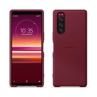 SONY純正 Xperia 5 Style Cover SCBJ10JP/R レッド