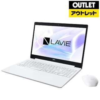 【アウトレット品】 15.6型ノートPC [Office付・AMD Ryzen 7・SSD 256GB・メモリ 4GB] LAVIE Note Standard  PC-NS600NAW カームホワイト 【生産完了品】