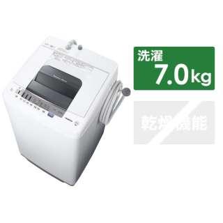 NW-70E-W 全自動洗濯機 白い約束 ピュアホワイト [洗濯7.0kg /乾燥機能無 /上開き]