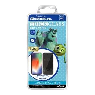 iPhone 11 Pro/XS/X 『ディズニー・ピクサーキャラクター』/トリックガラスフィルム 10H/『モンスターズ・インク/シルエット』 IN-DP23FG/MI1 『モンスターズ・インク/シルエット』