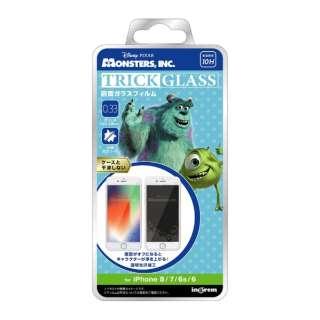 iPhone 8/7/6s/6 『ディズニー・ピクサーキャラクター』/トリックガラスフィルム 10H/『モンスターズ・インク/シルエット』 IN-DP7S6FG/MI1 『モンスターズ・インク/シルエット』