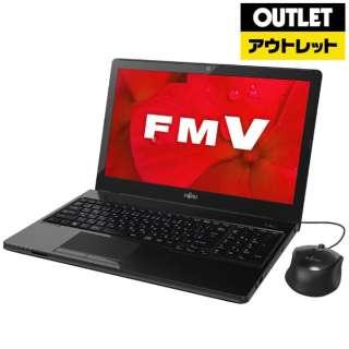 【アウトレット品】 15.6型ノートPC [Office付・AMD Aシリーズ・SSD 256GB・メモリ 4GB] LIFEBOOK AH41/D2  FMVA41D2B シャイニーブラック 【外装不良品】