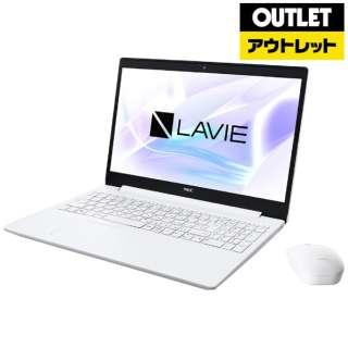 【アウトレット品】 15.6型ノートPC [Office・Core i3・HDD 1TB・Optane 16GB・メモリ 4GB] LAVIE Note Standard(NS300/NAシリーズ)  PC-NS300NAW カームホワイト 【外装不良品】