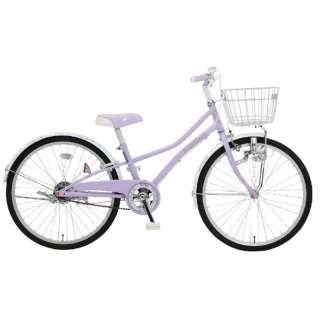 24型 子ども用自転車 パプリカジュニア24(パープル/シングルシフト)
