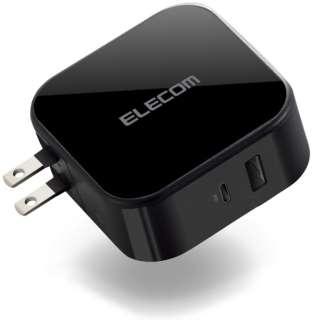 USB 充電器 PD対応 合計出力42W Cポート×1、Aポート×1 ブラック iPhone iPad Galaxy Xperia AQUOS OPPO、その他Android各種対応 ブラック MPA-ACCP13BK [2ポート /USB Power Delivery対応 /Smart IC対応]