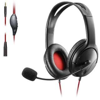 両耳オーバーヘッド 1.5m延長ケーブル付 PS4 Switch対応 ブラック HS-GM20BK 【PS4/Switch】