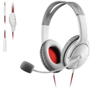 両耳オーバーヘッド 1.5m延長ケーブル付 PS4 Switch対応 ホワイト HS-GM20WH 【PS4/Switch】